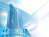 Business background with modern city buildings Royalty Free Stock Photography