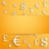 Business background with money Currency symbols Royalty Free Stock Photo
