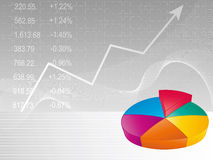 Business background - Pie chart. / graph with stock prices Royalty Free Stock Photography