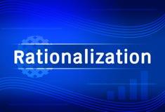 Business background Rationalization Stock Photo