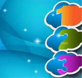 Business Background with Three 3D effect Clouds Stock Photos