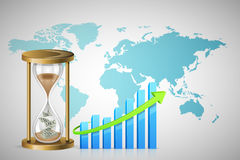 Business Background and Time is Money Concept. Royalty Free Stock Photos