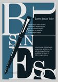 Business background, typographics Stock Images