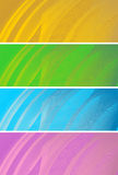 Business background, vector. Abstract banners, stylized waves, place for text Royalty Free Stock Images