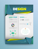 Business background. Vector template. Poster. Stock Photos
