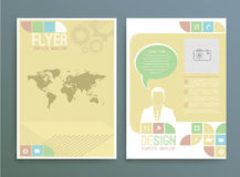 Business background. Vector template. Poster. Royalty Free Stock Photos