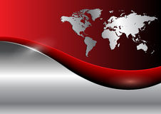 Free Business Background With World Map Stock Photos - 14111083