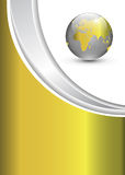 Business background with world globe. Business gold background with world globe Stock Photo