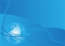 Business background with world globe. Vector Royalty Free Stock Image