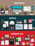 Business backgrounds set Stock Images