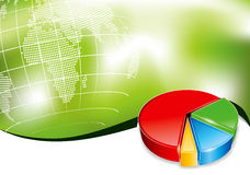 Business backround with 3d chart Stock Image