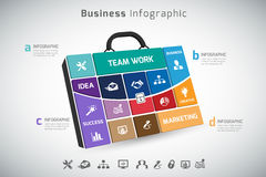 Business bag infographic. In vector format Royalty Free Stock Image