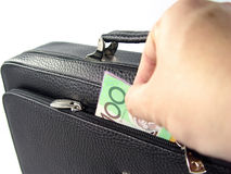 Business bag and money Stock Photography