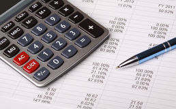 Business Balance Sheet Royalty Free Stock Photos