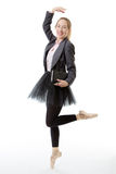 Business ballerina with book Royalty Free Stock Photos