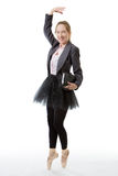 Business ballerina with book Royalty Free Stock Images
