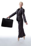 Business ballerina with briefcase Stock Image