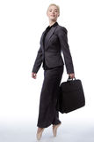 Business ballerina with briefcase Royalty Free Stock Photography