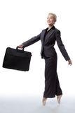 Business ballerina with briefcase Royalty Free Stock Photo