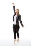 Business ballerina en pointe Royalty Free Stock Photos