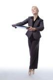 Business ballerina with folder Stock Image