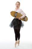 Business ballerina with skateboard Stock Photo