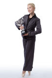 Business ballerina trophy Stock Photography