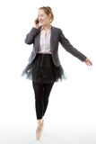 Business Ballerina With Mobile Royalty Free Stock Photo