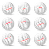 Business balls. Illustration of balls on the business theme, on white background Royalty Free Stock Photography