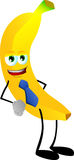 Business banana wearing tie Stock Image