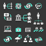 Business banking concept icons set. Vector illustrations Stock Images