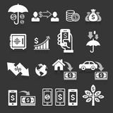 Business banking concept icons set. Vector illustrations Stock Image