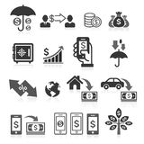 Business banking concept icons set. Stock Images