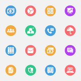 Business and Banking flat icons. Set of 16 Royalty Free Stock Photos