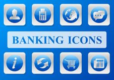 Business banking icon pack. Vector design of business outline icon with concept Royalty Free Stock Image