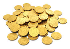 Heap of golden coins Stock Image