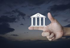 Business banking online concept Royalty Free Stock Images