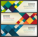 Business banner with colorful squares. Business design template. Horizontal banners. Vector Stock Image