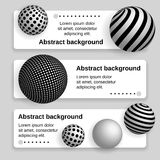 Business banner with 3d balls Stock Photos