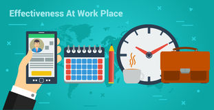 Business Banner - effectiveness at work Royalty Free Stock Image