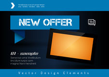Business banner with modern display. Vector design elements for Royalty Free Stock Photo