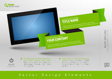 Business banner with modern display. Vector design elements for Royalty Free Stock Photography
