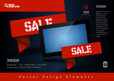 Business banner with modern display. Vector design elements for Royalty Free Stock Photos