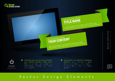 Business banner with modern display. Vector design elements for Stock Image