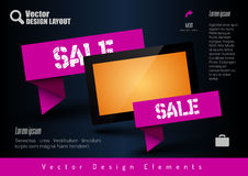 Business banner with modern display. Vector design elements for Royalty Free Stock Image