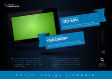 Business banner with modern display. Vector design elements for Royalty Free Stock Images