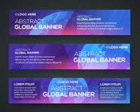 Business banner set background with globe Stock Photo
