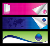 Business banner set. Editable. Stock Images