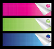 Business banner set. Editable. Royalty Free Stock Images