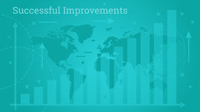Business Banner - Successful Improvements royalty free illustration